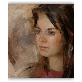 Vitalwalls Portrait Painting Canvas Art Print. Western-070-60cm