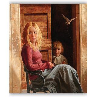 Vitalwalls Portrait Painting Canvas Art Print. Western-081-60cm