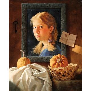Vitalwalls Portrait Painting Canvas Art Print. Western-083-60cm