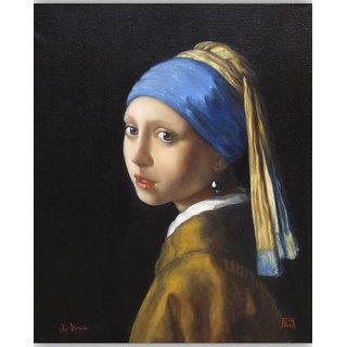 Vitalwalls Portrait Painting Canvas Art Print. Western-230-60cm