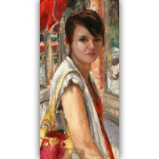 Vitalwalls Portrait Painting Canvas Art Print. Western-291-45cm
