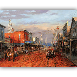 Vitalwalls Portrait Painting Canvas Art Print. Western-329-30cm