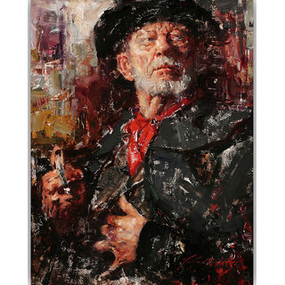 Vitalwalls Portrait Painting Canvas Art Print. Western-395-45cm
