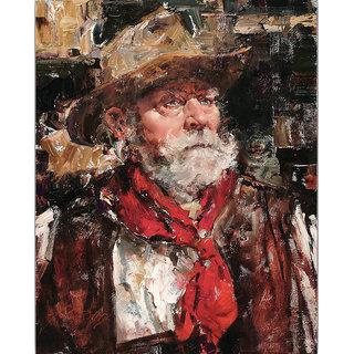 Vitalwalls Portrait Painting Canvas Art Print. Western-382-30cm