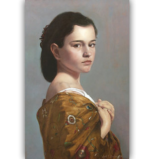 Vitalwalls Portrait Painting Canvas Art Print. Western-429-30cm