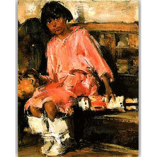 Vitalwalls Portrait Painting Canvas Art Print. Western-479-30cm