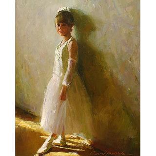 Vitalwalls Portrait Painting Canvas Art Print, on Wooden FrameWestern-505-F-60cm