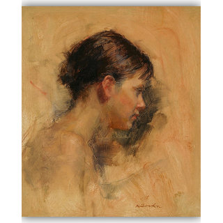 Vitalwalls Portrait Painting Canvas Art Print, on Wooden FrameWestern-508-F-30cm