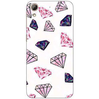 1 Crazy Designer Diamond Back Cover Case For HTC Desire 728 C960088