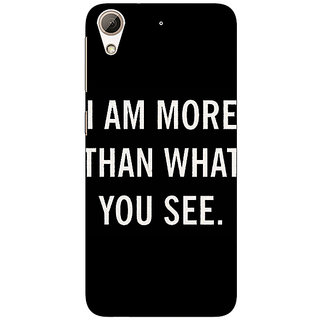 1 Crazy Designer Quote Back Cover Case For HTC Desire 626S C951230