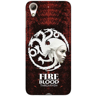 1 Crazy Designer Game Of Thrones GOT House Targaryen  Back Cover Case For HTC Desire 728 C960150