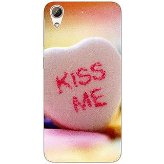 1 Crazy Designer Kiss me  Back Cover Case For HTC Desire 728 C960726