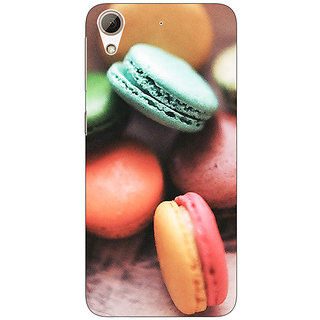 1 Crazy Designer Macaroons Back Cover Case For HTC Desire 728G Dual Sim C970685