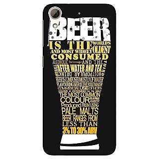 1 Crazy Designer Beer Quote Back Cover Case For HTC Desire 728 Dual Sim C981227