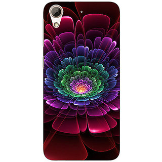 1 Crazy Designer Abstract Flower Pattern Back Cover Case For HTC Desire 728 Dual Sim C981504