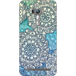 1 Crazy Designer Floral Blue Pattern Back Cover Case For Asus Zenfone Selfie C990228