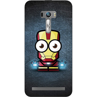 1 Crazy Designer Big Eyed Superheroes Iron Man Back Cover Case For Asus Zenfone Selfie C990396