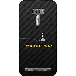 1 Crazy Designer Wrong Way Back Cover Case For Asus Zenfone Selfie C990809