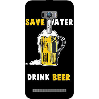 1 Crazy Designer Beer Quote Back Cover Case For Asus Zenfone Selfie C991262