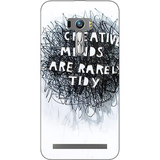 1 Crazy Designer Quote Back Cover Case For Asus Zenfone Selfie C991356