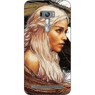 1 Crazy Designer Game Of Thrones GOT Khaleesi Daenerys Targaryen Back Cover Case For Asus Zenfone Selfie C991534