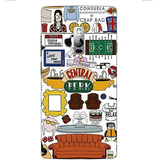 1 Crazy Designer TV Series FRIENDS Back Cover Case For OnePlus Two C1000342
