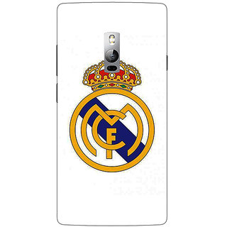 1 Crazy Designer Real Madrid Back Cover Case For OnePlus Two C1000584
