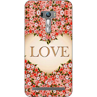 1 Crazy Designer Love Floral Back Cover Case For Asus Zenfone Selfie C991419