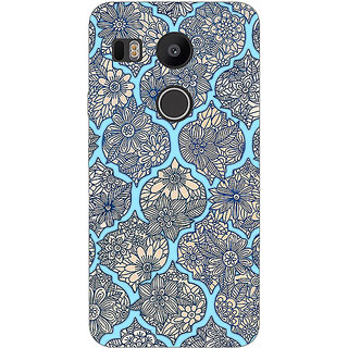 1 Crazy Designer Sky Morroccan Pattern Back Cover Case For LG Google Nexus 5X C1010244