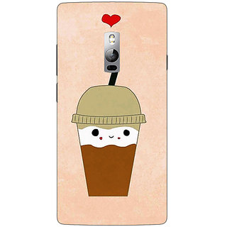 1 Crazy Designer Milkshake Love Back Cover Case For OnePlus Two C1001134
