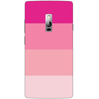 1 Crazy Designer Pink Stripes Back Cover Case For OnePlus Two C1001147