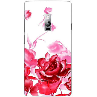 1 Crazy Designer Floral Pattern Back Cover Case For OnePlus Two C1001410
