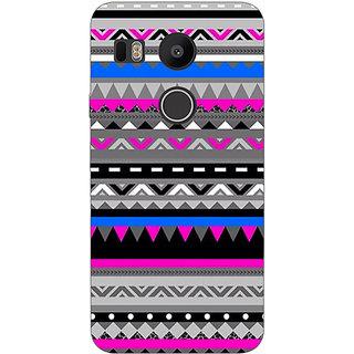 1 Crazy Designer Aztec Girly Tribal Back Cover Case For LG Google Nexus 5X C1010059