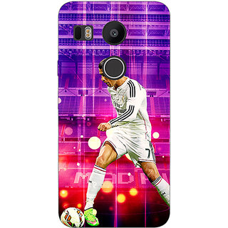 1 Crazy Designer Cristiano Ronaldo Real Madrid Back Cover Case For LG Google Nexus 5X C1010304