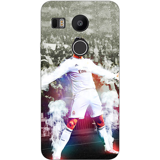 1 Crazy Designer Cristiano Ronaldo Real Madrid Back Cover Case For LG Google Nexus 5X C1010305