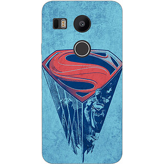 1 Crazy Designer Superheroes Superman Back Cover Case For LG Google Nexus 5X C1010387