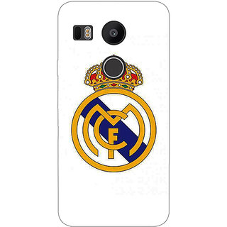 1 Crazy Designer Real Madrid Back Cover Case For LG Google Nexus 5X C1010584