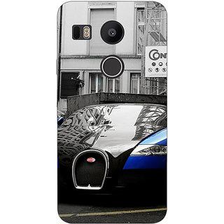 1 Crazy Designer Super Car Bugatti Back Cover Case For LG Google Nexus 5X C1010627