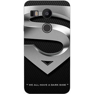 1 Crazy Designer Superheroes Superman Logo  Back Cover Case For LG Google Nexus 5X C1010878