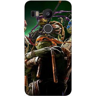 1 Crazy Designer Ninja Turtles Back Cover Case For LG Google Nexus 5X C1010888