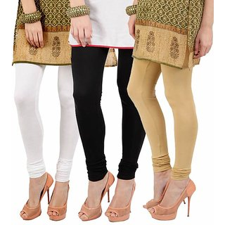 Pack of 3 Cotton Leggings 22 color options