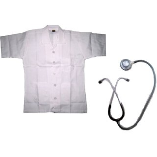 Doctor Coat Fancy dress costume with stethescope for kids
