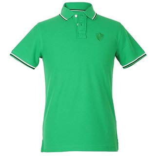 Standard Polo Insta dri Green Slim Fit Tshirts half sleeves