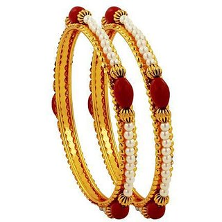 Pearls on Stainless Steel Bangles By Luxor
