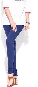 ZYCA Solid cotton knit churidar leggings in royal blue