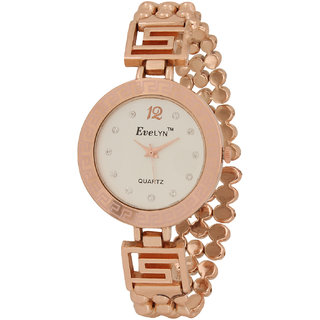 Evelyn Wrist Watch For Women in White Dial-EVE-345
