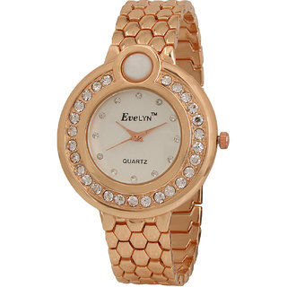 Evelyn Wrist Watch For Women in White Dial-EVE-346
