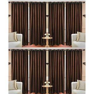 shiv shankar handloom set of 8  window curtains (5X4 feet)