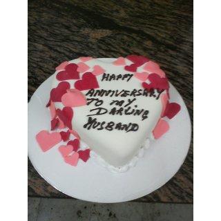 Royal Happy Anniversary To My Dear Darling Husband 1 Kg Eggless Cake