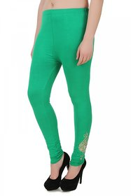 You Forever Green Designer Viscose Lycra Leggings